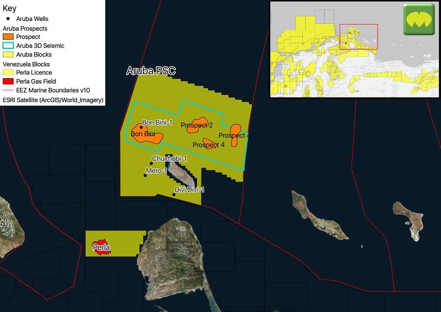 Aruba Licence Map (Source MapStand)