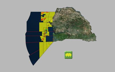 Senegal and Gambia Licence Map (Source MapStand)