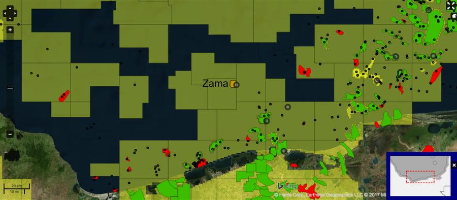 Zama-1 well